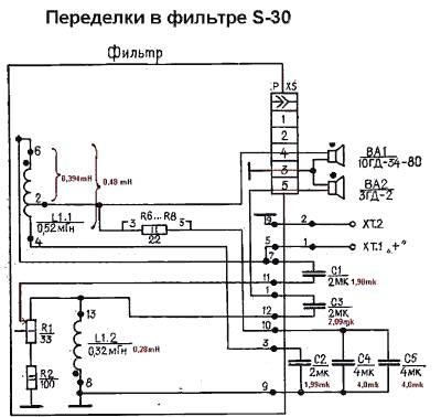 S 30 схема пассивного фильтра