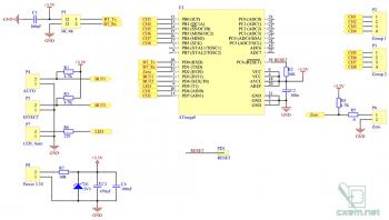 Схема цифровой части блока управления гирляндами через Bluetooth