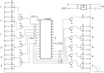 Схема контроллера елки
