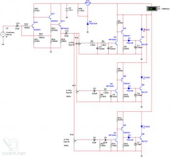Схема простой трех-канальной ЦМУ на светодиодных лентах