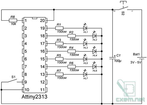 Резисторы R1-R7 тока