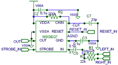 Схема включения MSGEQ7