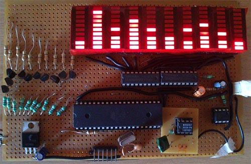 10-ти полосный аудио спектроанализатор на ATmega32 и MSGEQ7