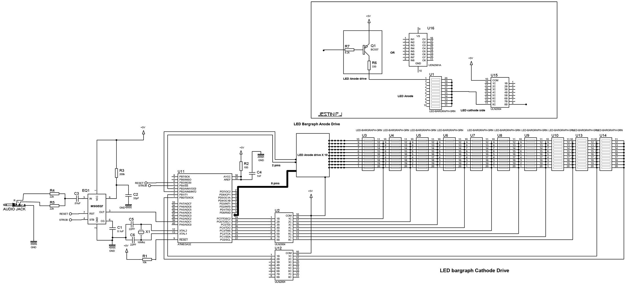РадиоКот : 10 полосный анализатор 40