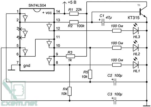 Микросхема К555ЛН1 (импортный