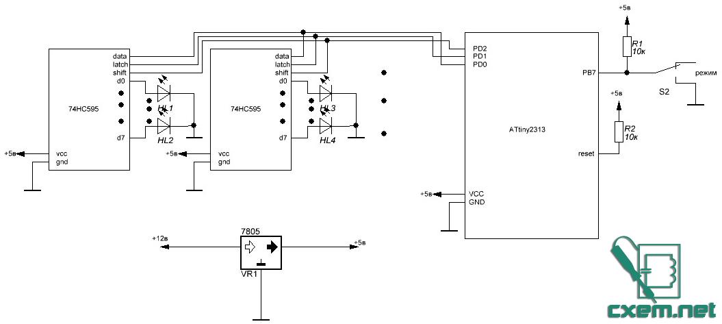 Светодиоды подключаем через