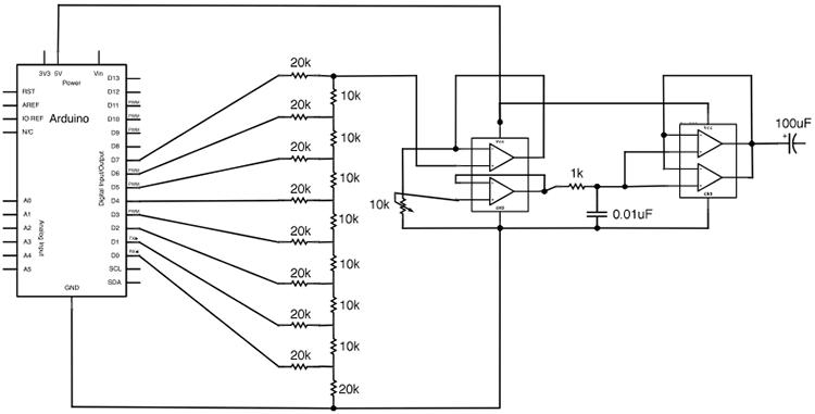 На первой схеме показан аудио