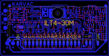 Печатная плата индикатора уровня на ИЛТ4-30М