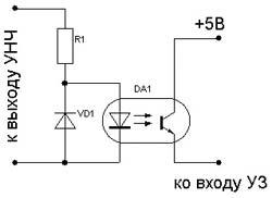 Защита акустических систем от перегрузок.  Схема с оптронной развязкой.