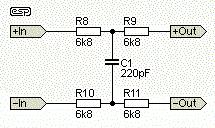 Цепь дополнительного входного фильтра для приемника