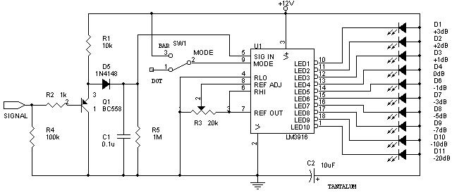 lm3916 audio level meter
