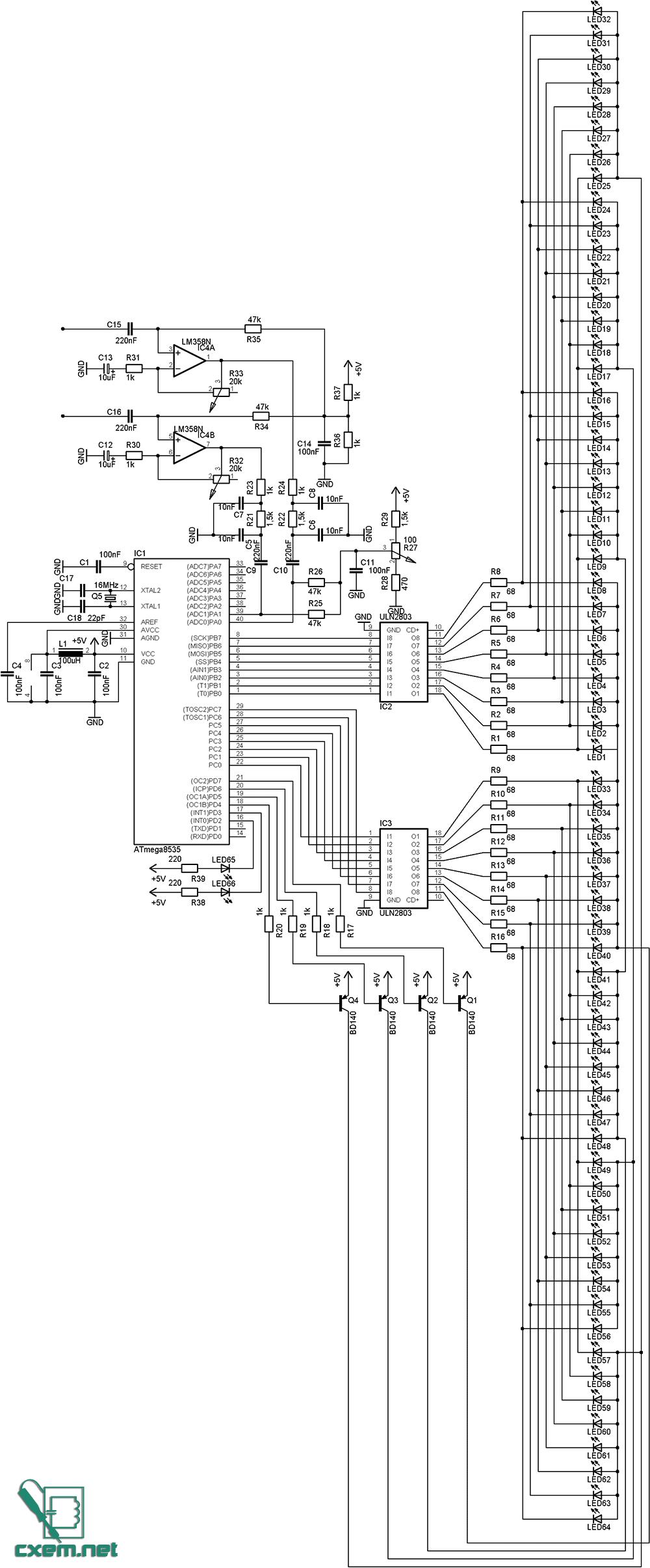 Схема светодиодного индикатора сигнала фото 392