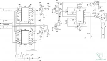 Схема предварительного усилителя