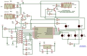 Схема селектора входов и выходов УМЗЧ
