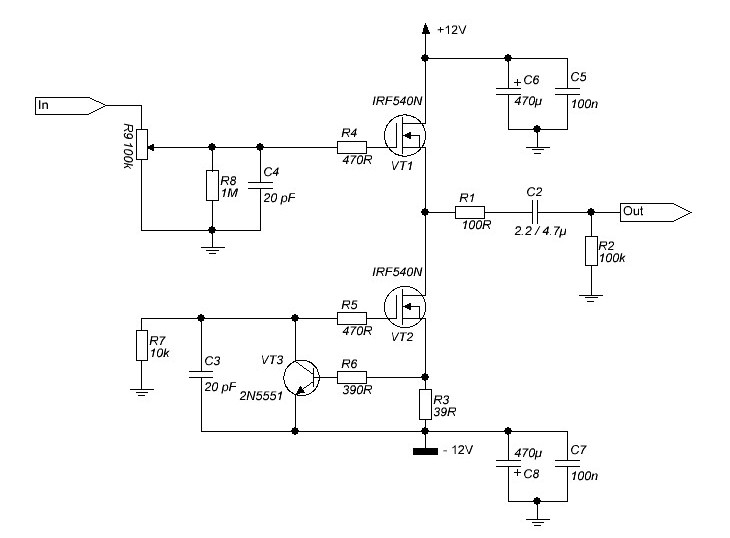 Транзисторы VT1, VT2, поставил