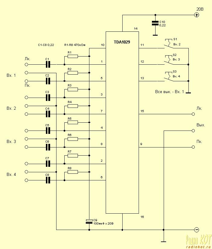 Микросхема предназначена для переключения четырёх двухканальных сигналов.Микросхема предназначена для переключения...