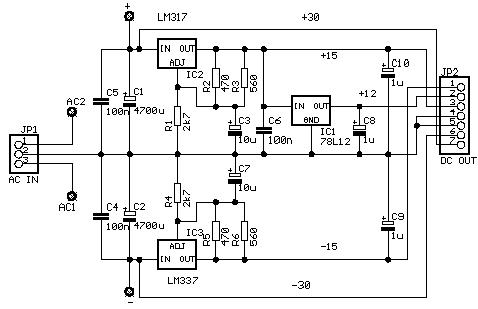 ...можно собрать на основе двух микросхем: темброблок на LM1036 и УМЗЧ на LM3886.
