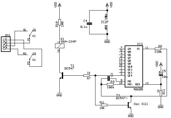 ...схема задержки включения источника света использует напряжение пробоя перехода Формирователь.