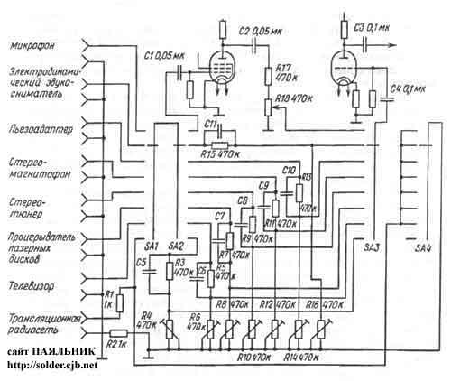 схемы простых ламповых приемников - Схемы.