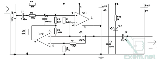 Схема сабвуфер от вольт.