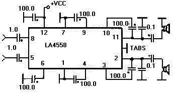 An4558 схема включения