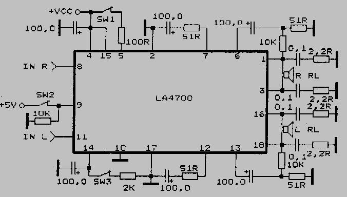 Схема включения la4700