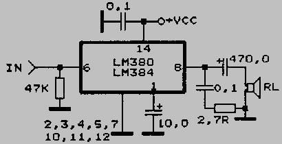 Lm384 схема включения