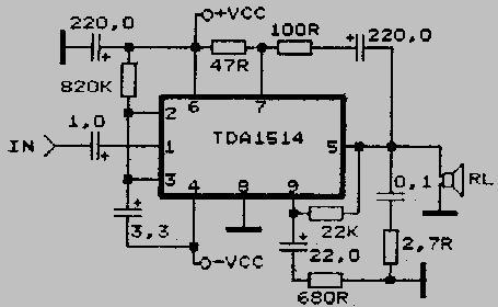...Низкой звуковой частоты УМЗЧ УНЧ на микросхеме tda тда 1514 datasheet.