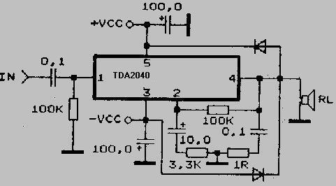 схема принципиальная для саба на tda2030a - База схем.