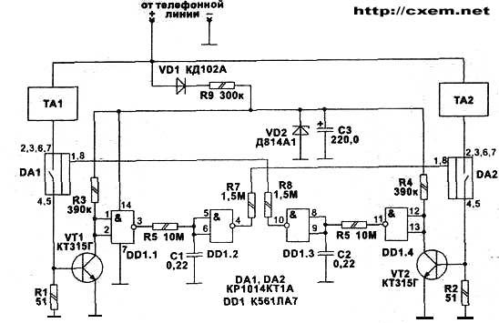 Схема телефон блокиратор.