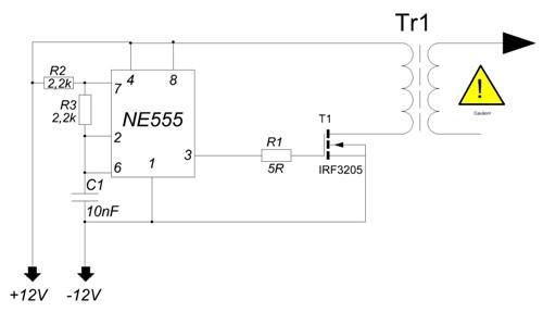 Схема на таймере 555