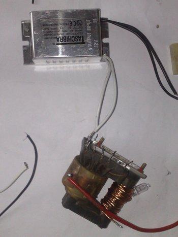 строчном трансформаторе,