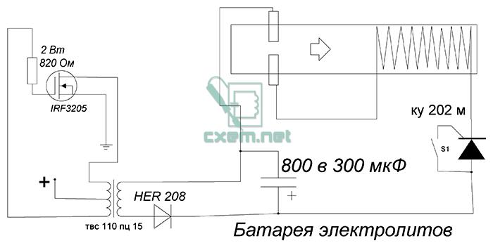 Схема плазменной пушки В650