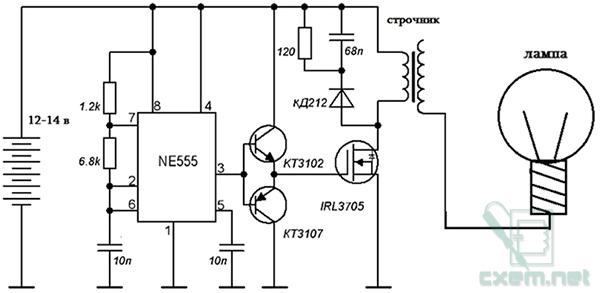 полевого транзистора.