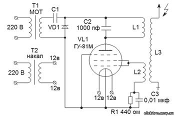 от схемы на ГУ-81М, лампа тут включена триодом.  Такое включение позволяет довольно сильно увеличить...
