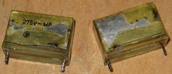 Сгоревшие конденсаторы