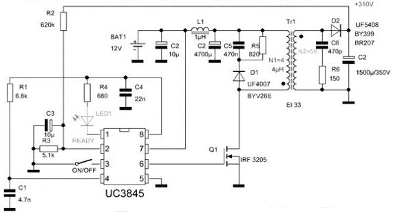 Схема генератора для Гаусс