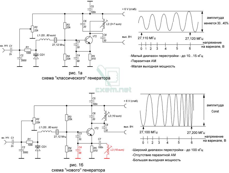 Генератор кварц схема