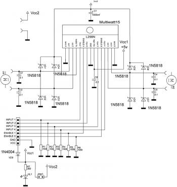 Схема драйвера двигателей