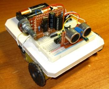 Робот с самодельным УЗ датчиком