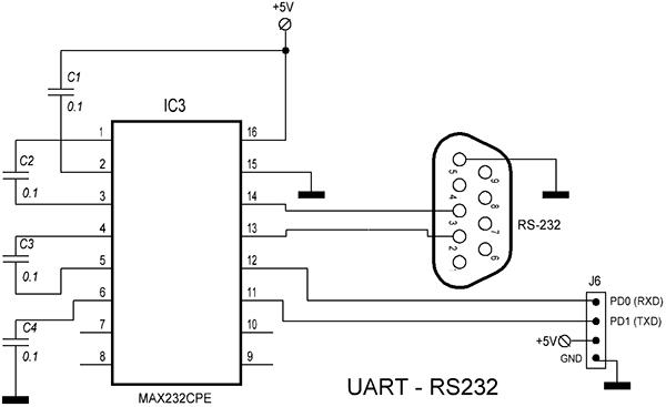 Схема модуля связи