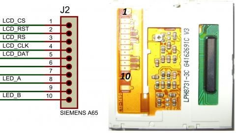 Схема подключения ЖК дисплея