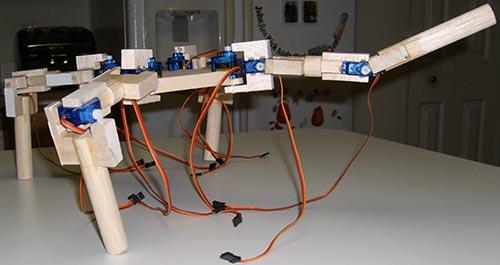 Четвероногий робот на основе Arduino.