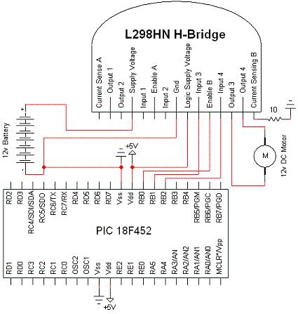 Схема драйвера для двигателя для робота фото 521