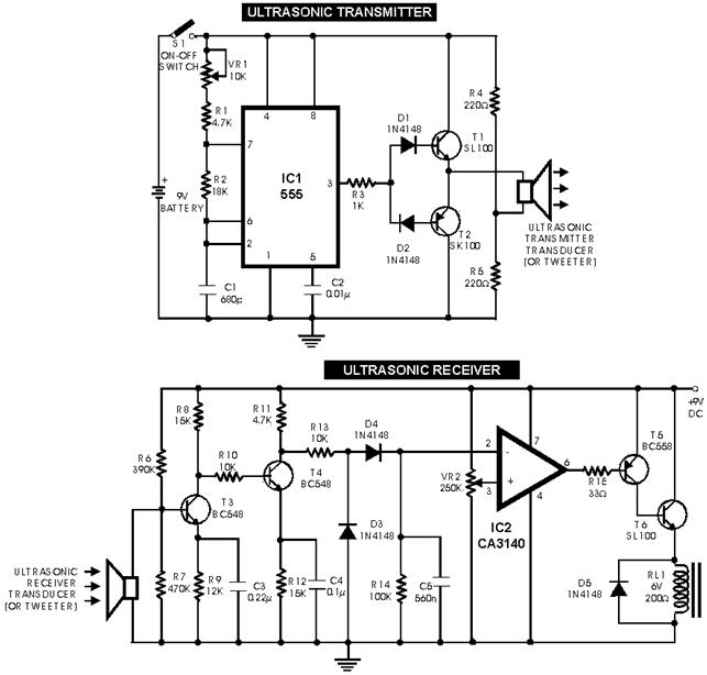 Схема для УЗ сонара